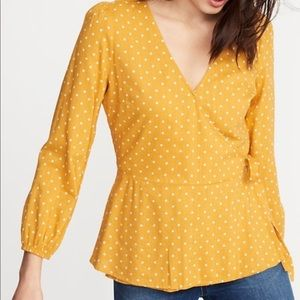 Yellow old navy wrap top